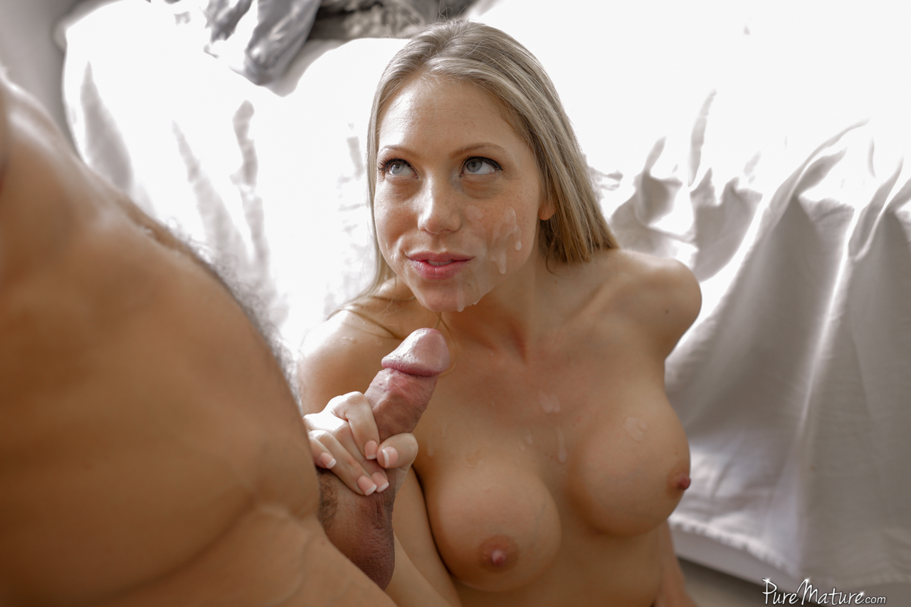 image Pov morning titjob with huge cumshot